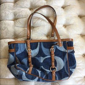 Coach denim purse authentic